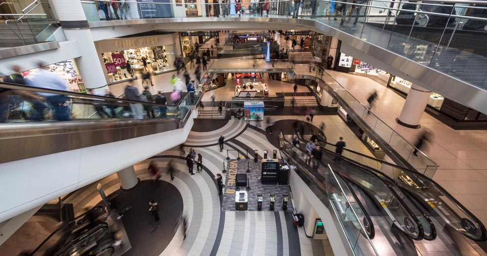 Ripresa centri commerciali
